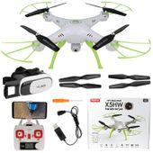 Dron Syma X5HW kamera Wi-Fi funkcja zawisu Gogle VR 3D Biały Y142GB