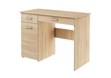biurko ADAŚ DĄB SONOMA szkolne dla dziecka z szafką lewe prawe