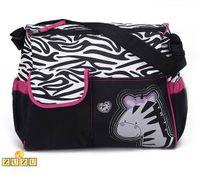 Pojemna torba dla mamy do wózka na plażę + mata - Zebra