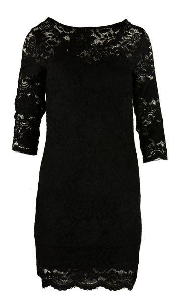7243a608 Koronkowa sukienka ołówkowa z dekoltem SERCE - czarna Rozmiar - L/XL