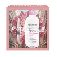 Maybelline Zestaw Mascara Tusz Do Rzęs Black 9.5Ml + Garnier Skin Naturals Płyn Micelarny 3W1 400Ml