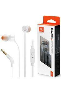 Słuchawki z mikrofonem JBL T110 Białe (kolor biały)
