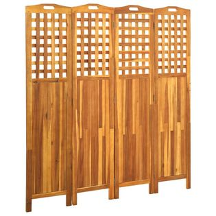 Parawan 4-panelowy 161x2x170cm lite drewno akacjowe VidaXL
