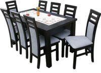 """Zestaw """" FOKUS 2"""" stół 160/90/200 plus 8 krzeseł"""