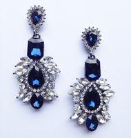 BLUE royal kolczyki SWAROVSKI kryształ długie STYL 3-0030