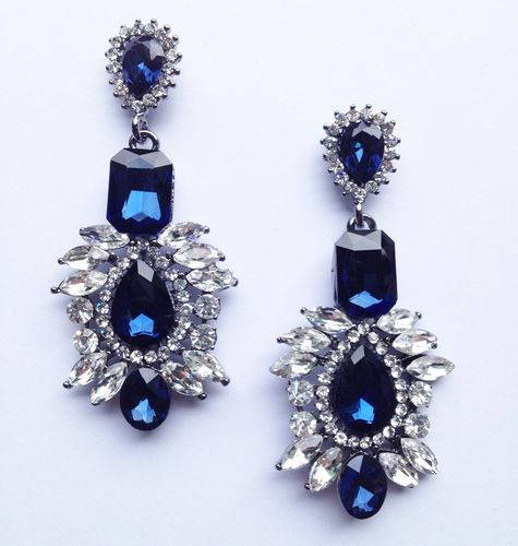 BLUE royal kolczyki SWAROVSKI kryształ długie STYL 3-0030 na Arena.pl