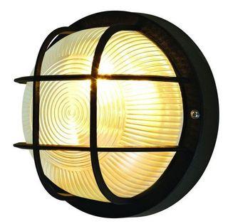 Oprawa piwniczna DREK lampa kinkiet czarna IP44 18,5cm fra