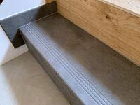 Betonopodobne schody ANTYPOŚLIZGOWE, płytki 120x30