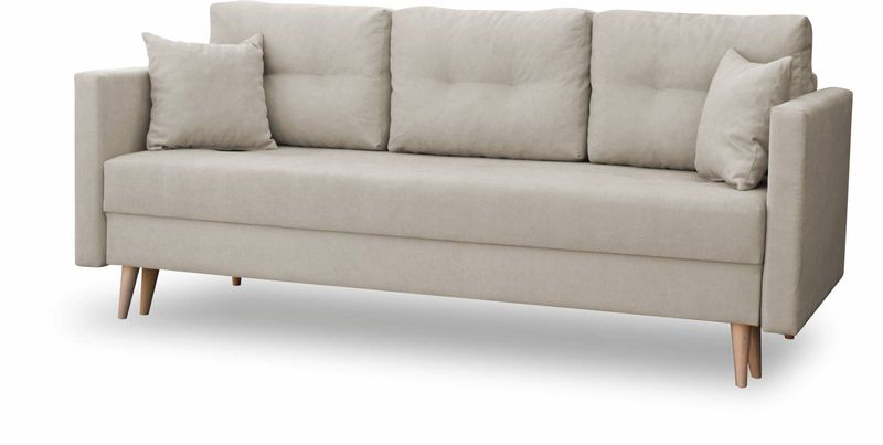 Kanapa rozkładana z funkcją spania na sprężynach, zmywalna sofa Lahti zdjęcie 6