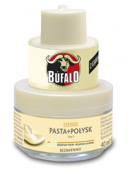 Bufalo Pasta I Połysk (2W1) Z Gąbką - Bezbarwna 40Ml na Arena.pl