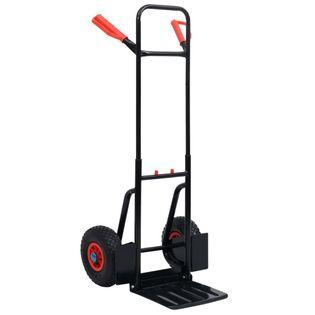 Teleskopowy wózek ręczny 200 kg czarno-czerwony VidaXL