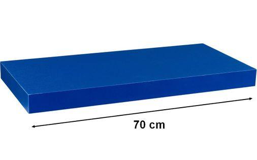 Półka ścienna STILISTA Volato wolnowisząca niebieska, 70 cm M31055