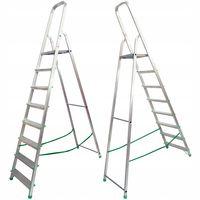 DRABINA aluminiowa domowa 8 stopniowa 150kg PRO