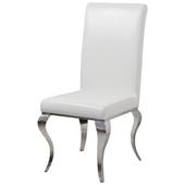 Krzesło glamour Premier White Eco krzesło tapicerowane ekoskóra