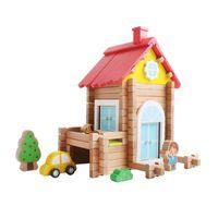Klocki Drewniane Konstrukcyjne Dom