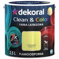 Dekoral Clean & Color 2,5L CYTRYNOWY STRETCH