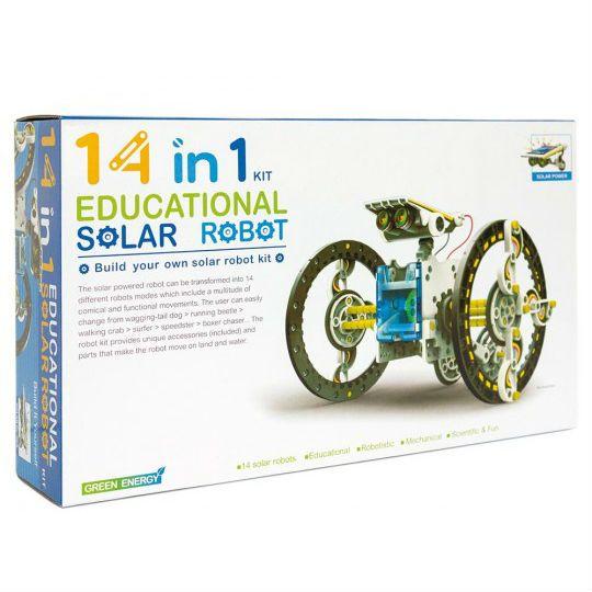 Edukacyjny Zestaw Solarny Robot 14w1 - Pies, Łódka zdjęcie 4