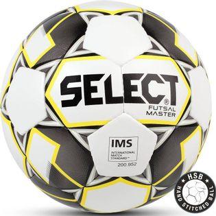 Piłka nożna Select Futsal Master IMS 2018 Hala biało żółto czarna 13825