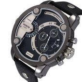 Zegarek męski North 3301, wodoszczelny, srebrny, czarny biały czerwony
