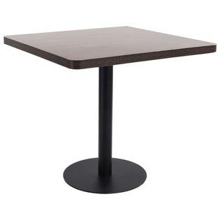 Stolik bistro, ciemnobrązowy, 80x80 cm, MDF