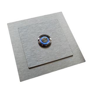 Przycisk dzwonka domofonu wyjścia wejścia furtki bramy drzwi INOX LED