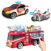 Wóz strażacki, samochód i motor Flota Miejska Dumel straż pożarna