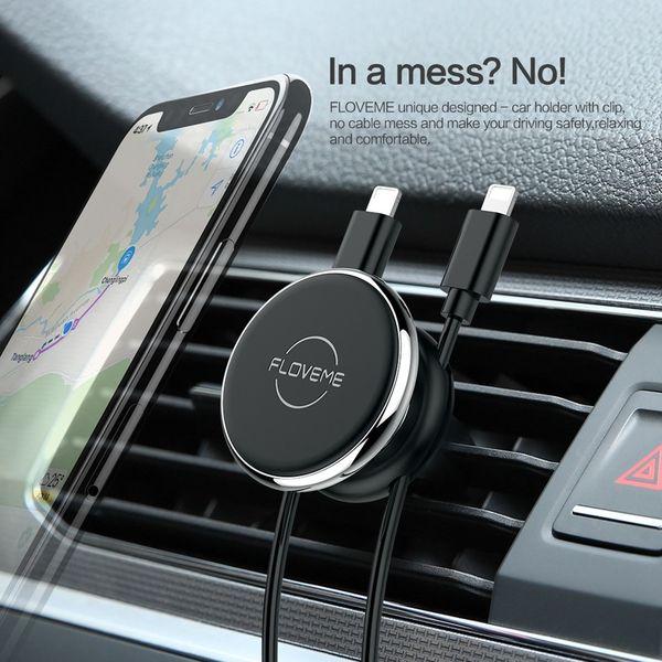 Floveme uchwyt magnetyczny samochodowy na telefon do kratki zdjęcie 4