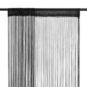 Zasłony sznurkowe, 2 sztuki, 100 x 250 cm, czarne