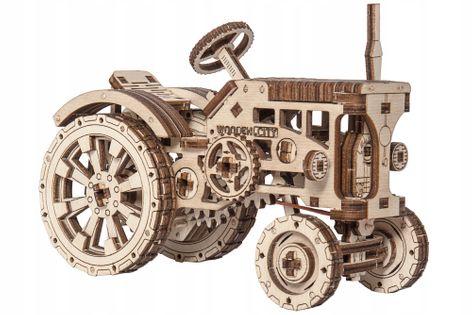 Traktor Mechaniczne Puzzle 3D Drewniane Wooden City
