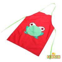 Fartuszek szkolny - kuchenny z żabką Kolory fartuszków - Czerwony