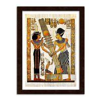 Obraz w ramie brązowej, Egipskie hieroglify 40x60