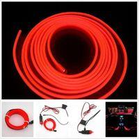 Światłowód EL WIRE Taśma LED 5m Plug&Play RED