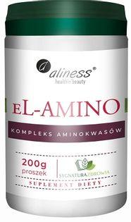 eL-AMINO kompleks aminokwasowy b.smaku, proszek 200g Aliness