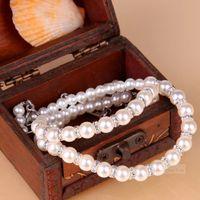 Ozdobne ramiączka do biustonosza cyrkonie perły BS000864