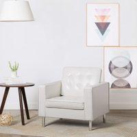 Fotel biały sztuczna skóra VidaXL
