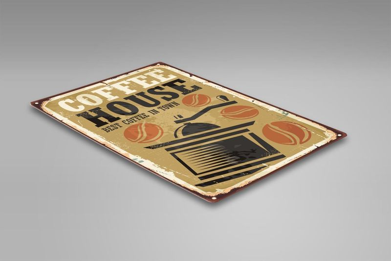 Wydruk na metalu, Retro – młynek do kawy 30x40 zdjęcie 2
