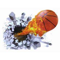 Naklejki na ścianę ścienne Piłka 3D Koszykówka WS-0144