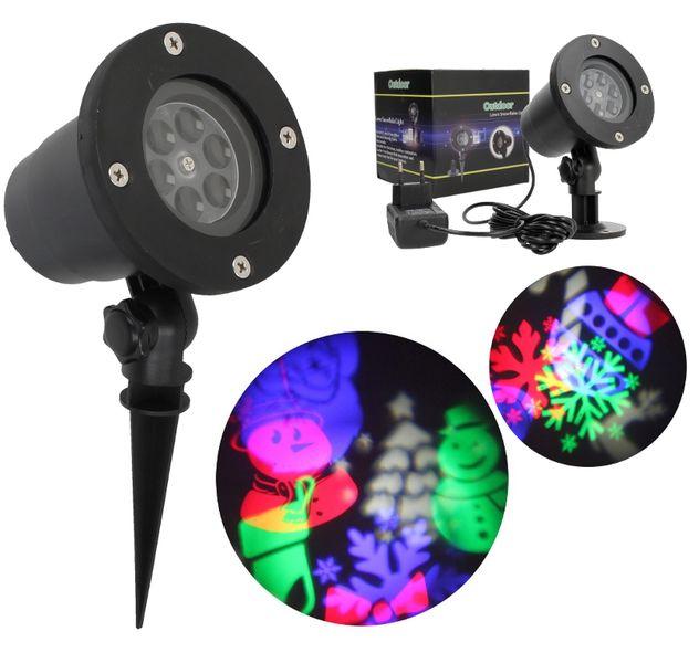 Projektor laserowy świąteczny wodoodporny MIKOŁAJ kolory G237 na Arena.pl