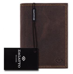 Portfel męski Zagatto skóra chroni pieniądze RFID