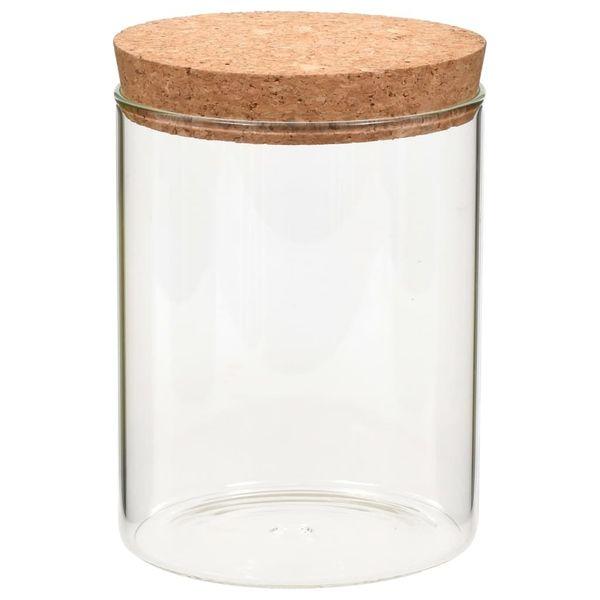 Szklane Słoje Z Korkową Pokrywką 6 Szt 650 Ml