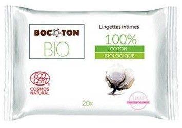 Bocoton Chusteczki Do Higieny Intymnej Bio 20Szt.
