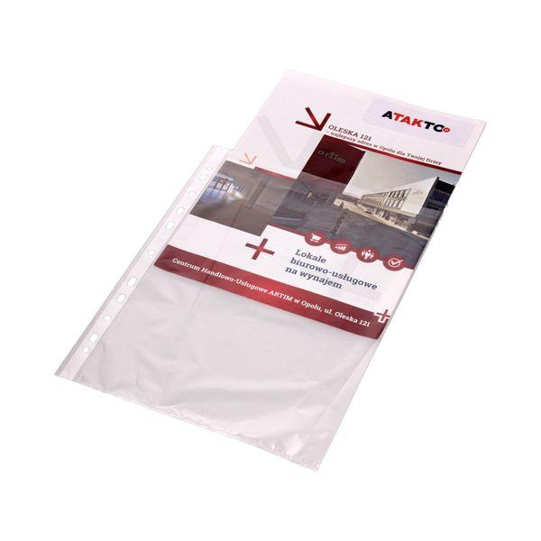 Koszulki groszkowe A4 folia Herlitz - 100 sztuk zdjęcie 2