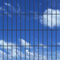 VidaXL 2D Panele i słupki ogrodzeniowe 2008x1630 mm 4 m szare
