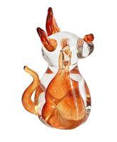 Szklany pies - pomarańczowa figurka