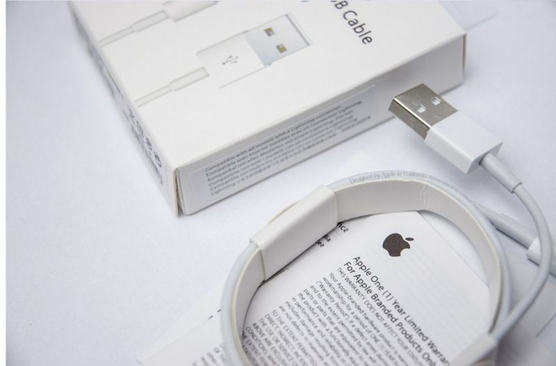 ORYGINALNY KABEL iPhone X 8 plus 8 7 plus 7 6s 6 5s 5c 5 iPad 1 metr zdjęcie 4