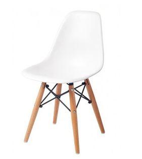 Małe krzesełko krzesło dla dzieci DSW retro BIAŁE C-445