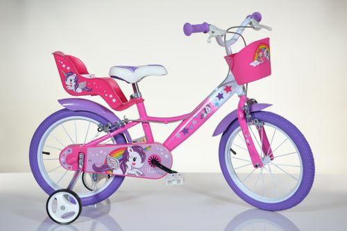 Włoski rower rowerek dla dziewczynki 16 Unicorn Jednorożec 16 cali na Arena.pl
