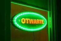 tablica OTWARTE led szyld panel neon reklama open neon diodowa