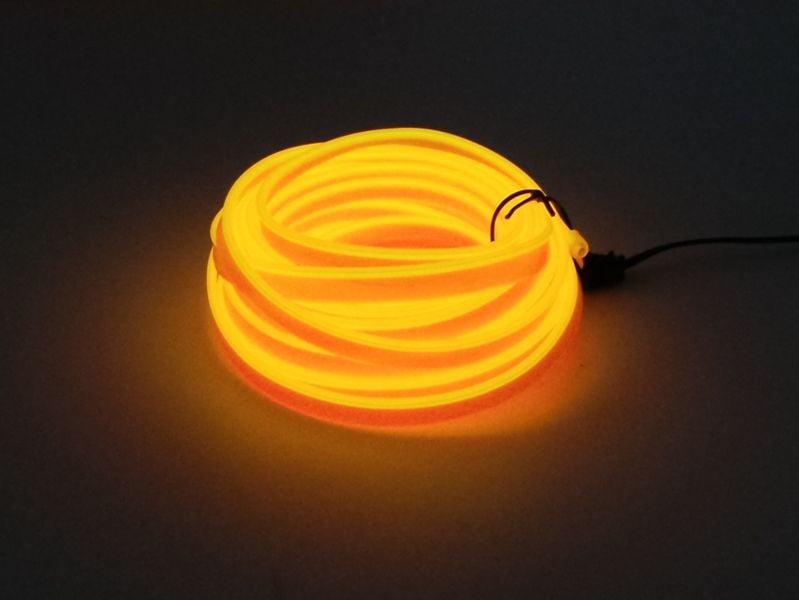 Światłowód EL WIRE Ambient Taśma LED 5m żółty zdjęcie 1