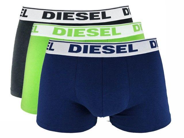 DIESEL  SHAWN BOXER 3-PACK Charcoal/Green/Navy 00SB5I-0GAFN-12 - XL zdjęcie 1